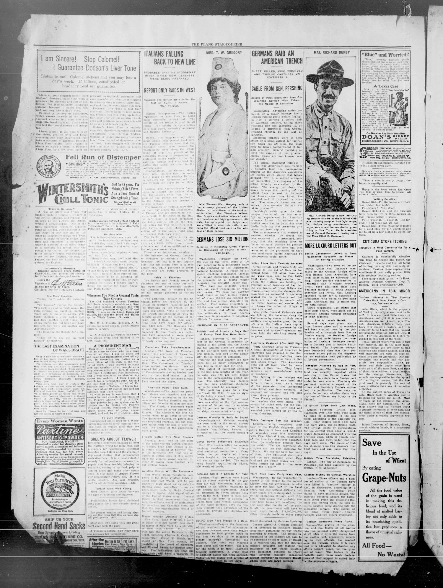 The Plano Star-Courier (Plano, Tex.), Vol. 29, No. 39, Ed. 1 Friday, November 9, 1917                                                                                                      [Sequence #]: 2 of 14