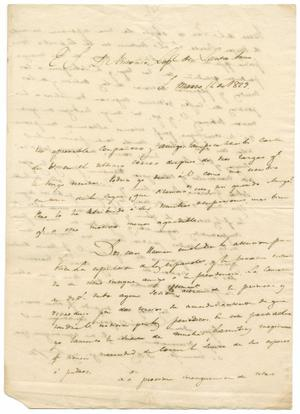 Primary view of object titled '[Letter from Lorenzo de Zavala to Antonio Lopez de Santa Anna, March 14, 1829]'.
