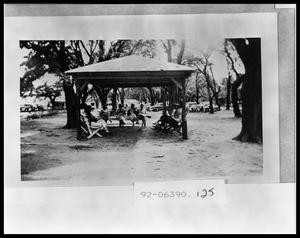 Primary view of object titled 'Church Workers Institute- Conference Class Under Gazebo'.