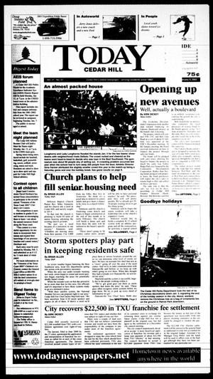 Primary view of Today Cedar Hill (Duncanville, Tex.), Vol. 37, No. 41, Ed. 1 Thursday, January 9, 2003