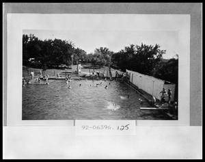 Primary view of object titled 'Swimming Pool at Encampment'.