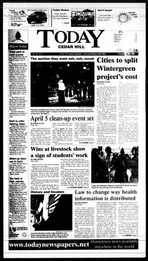 Primary view of object titled 'Today Cedar Hill (Duncanville, Tex.), Vol. 38, No. 1, Ed. 1 Thursday, April 3, 2003'.