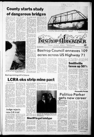 Primary view of object titled 'Bastrop Advertiser (Bastrop, Tex.), No. 93, Ed. 1 Thursday, January 25, 1979'.