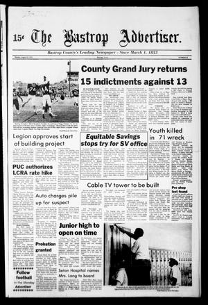 Primary view of object titled 'The Bastrop Advertiser (Bastrop, Tex.), No. 52, Ed. 1 Monday, August 27, 1979'.