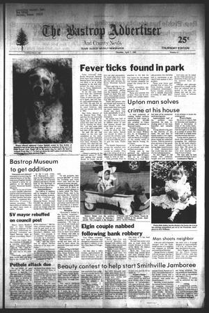 Primary view of object titled 'The Bastrop Advertiser and County News (Bastrop, Tex.), No. 11, Ed. 1 Thursday, April 7, 1983'.