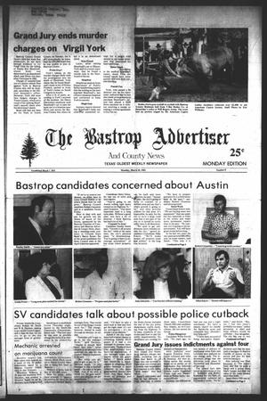 Primary view of object titled 'The Bastrop Advertiser and County News (Bastrop, Tex.), No. 8, Ed. 1 Monday, March 28, 1983'.