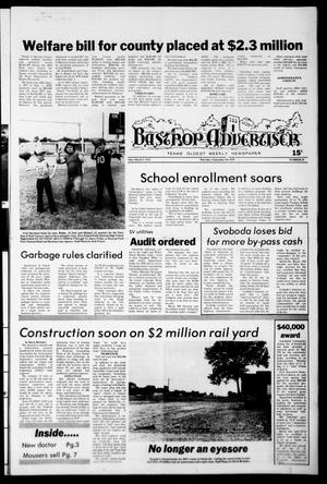 Primary view of object titled 'Bastrop Advertiser (Bastrop, Tex.), No. 58, Ed. 1 Thursday, September 20, 1979'.