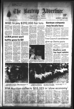 Primary view of object titled 'The Bastrop Advertiser and County News (Bastrop, Tex.), No. 6, Ed. 1 Monday, March 21, 1983'.
