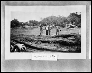 Primary view of object titled 'Men Standing by Road Being Built'.
