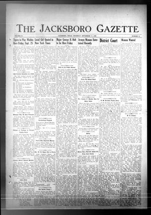 Primary view of The Jacksboro Gazette (Jacksboro, Tex.), Vol. 63, No. 16, Ed. 1 Thursday, September 17, 1942