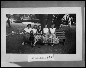 Primary view of object titled 'Girls Sitting on a Bench'.