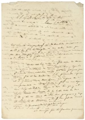 Primary view of object titled '[Letter from Lorenzo de Zavala to A(ntonio) L(opez) de Santa Anna, February 4, 1829]'.