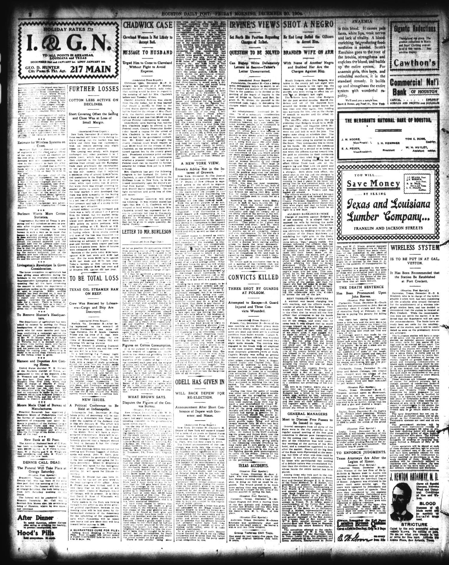 The Houston Post  (Houston, Tex ), Vol  20, No  290, Ed  1