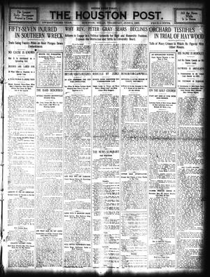 Primary view of The Houston Post. (Houston, Tex.), Vol. 23, Ed. 1 Thursday, June 6, 1907