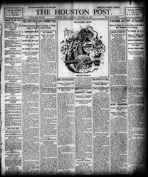 Primary view of The Houston Post. (Houston, Tex.), Vol. 19, No. 251, Ed. 1 Saturday, December 12, 1903