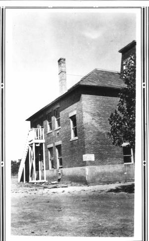 Primary view of object titled 'Hurst School (west side)'.