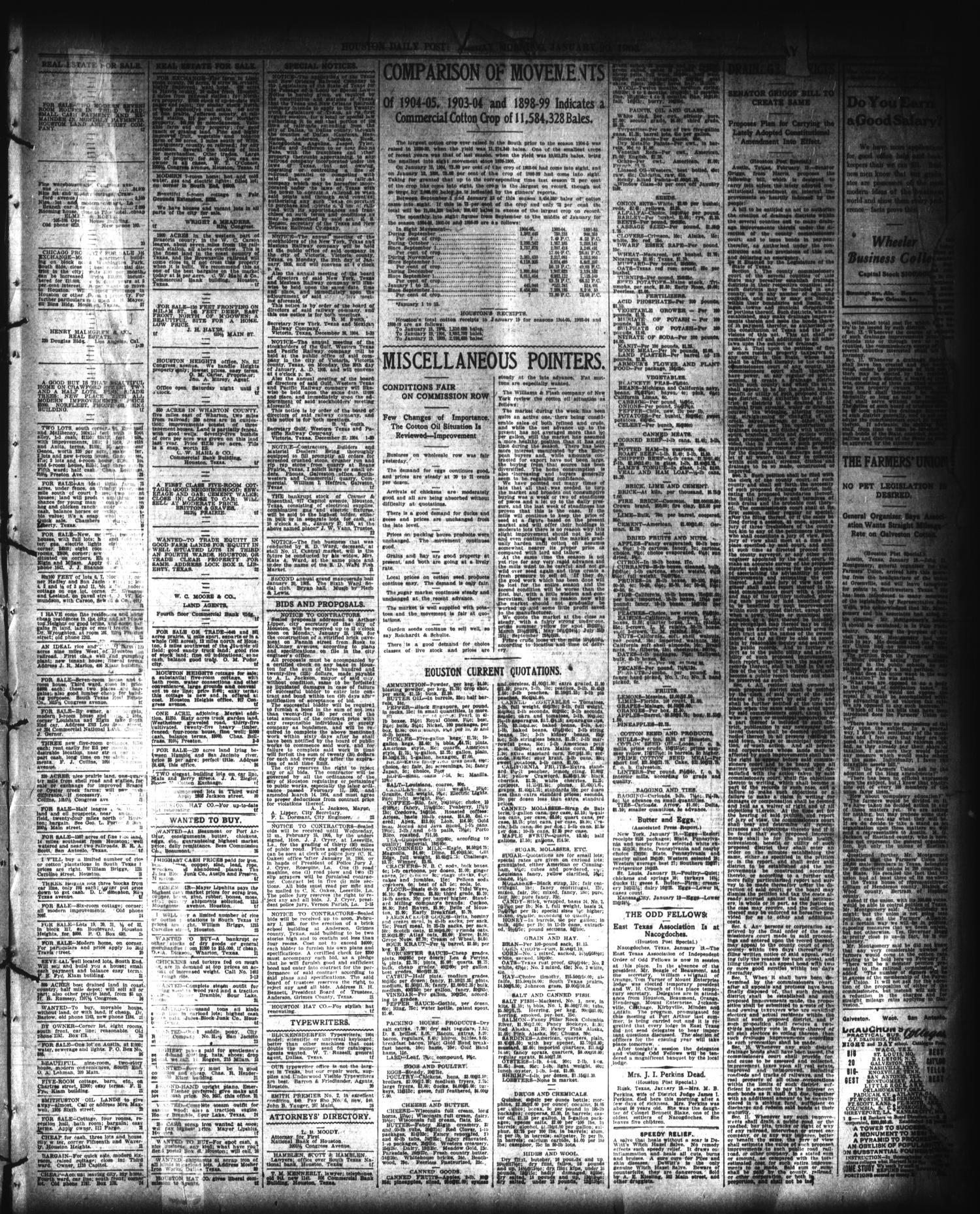 the houston post houston tex vol 20 no 311 ed 1 friday rh texashistory unt edu