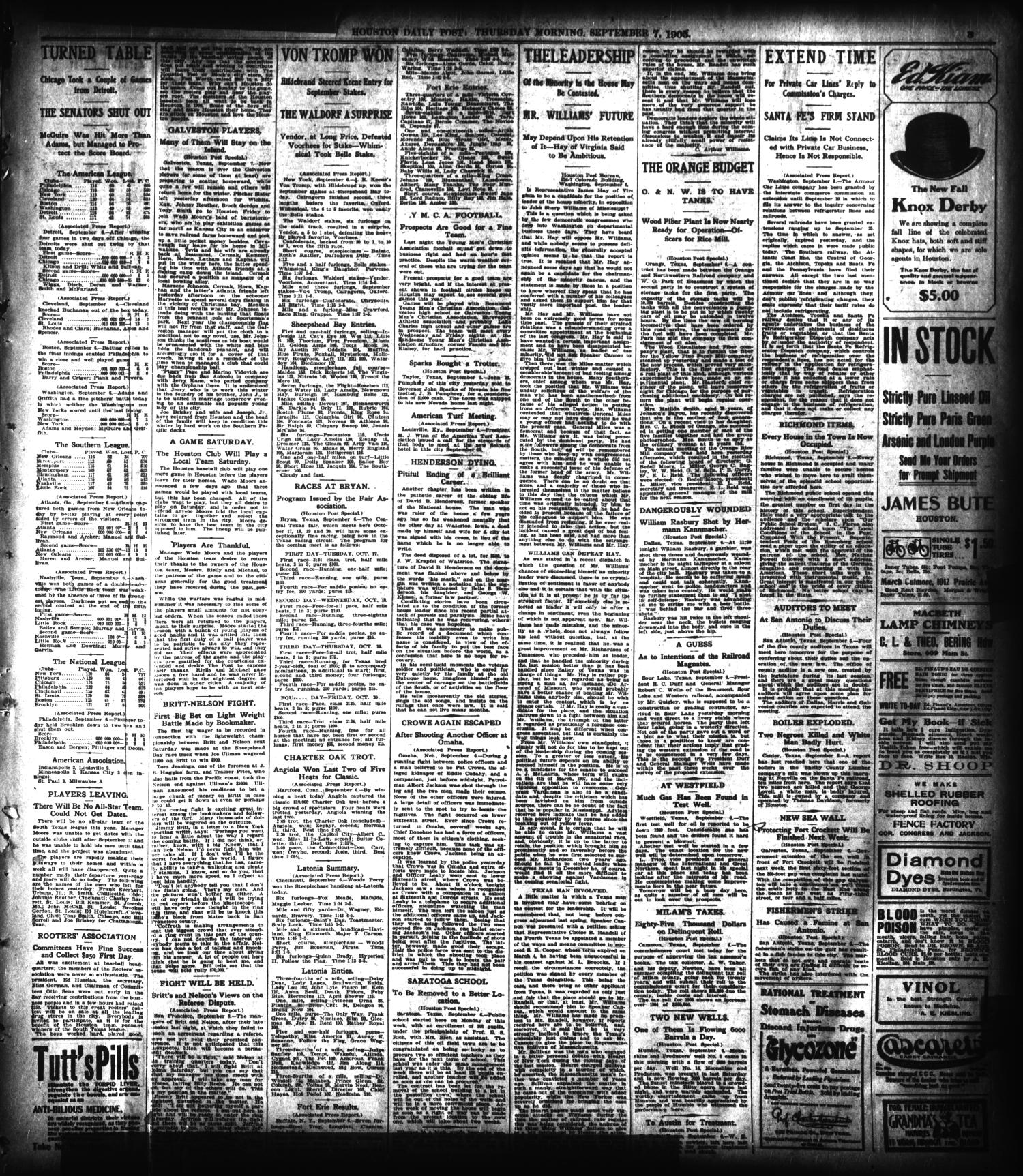 The Houston Post. (Houston, Tex.), Vol. 21, No. 176, Ed. 1 Thursday,  September 7, 1905 - Page 3 of 12 - The Portal to Texas History