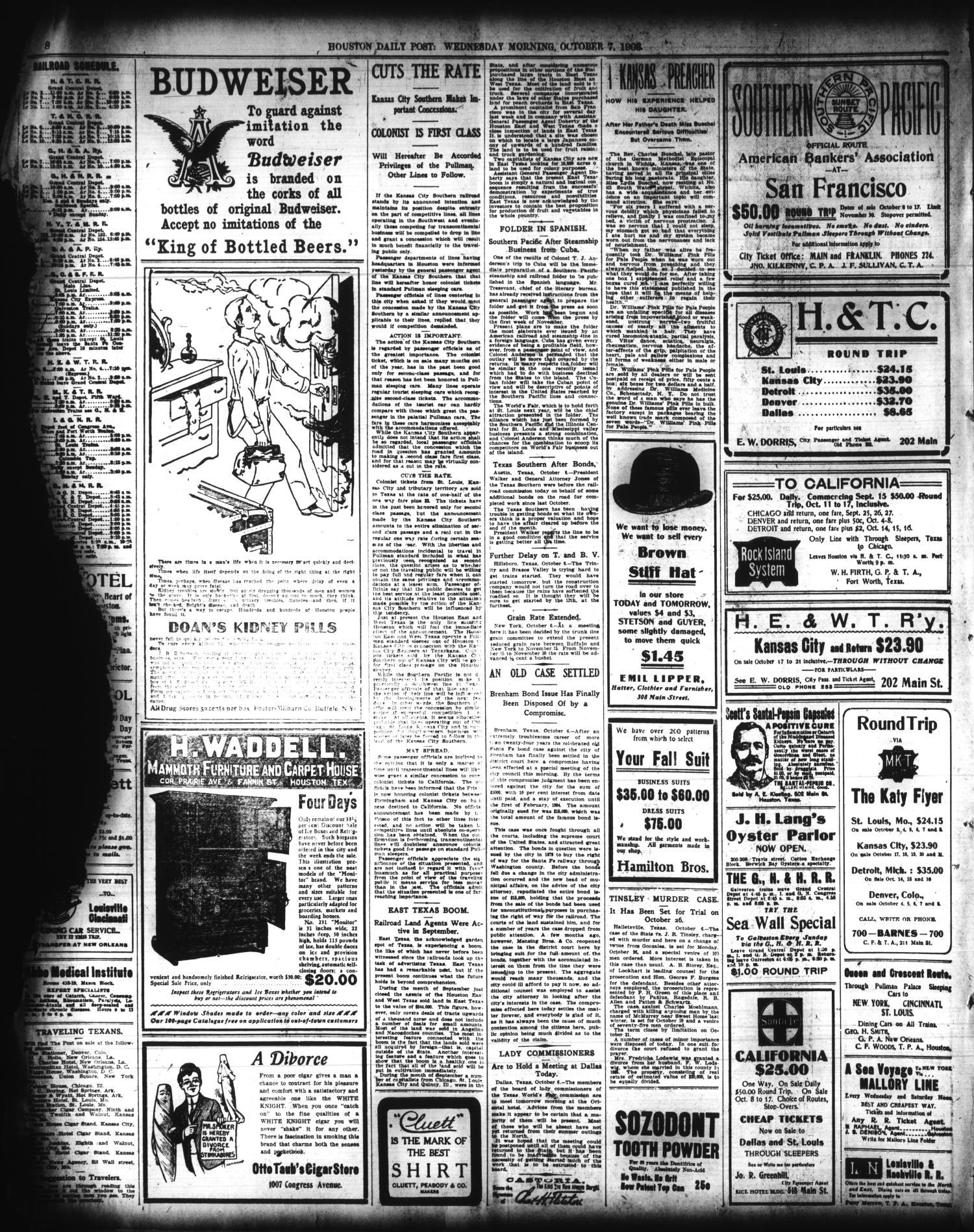 The Houston Post  (Houston, Tex ), Vol  19, No  185, Ed  1