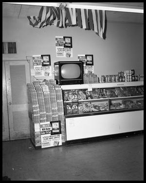 Primary view of object titled 'Kraft Cheese Display at Thornton's #1'.