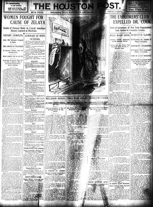 Primary view of object titled 'The Houston Post. (Houston, Tex.), Vol. 25, Ed. 1 Saturday, December 25, 1909'.