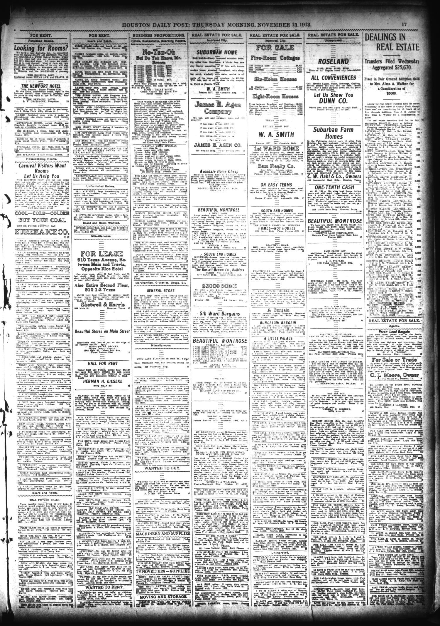 The Houston Post Houston Tex Vol 28 Ed 1 Thursday  # Abri De Jardin Kan Ar Mor
