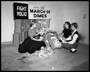 Primary view of object titled 'Mothers at Rehab - Polio Campaign'.
