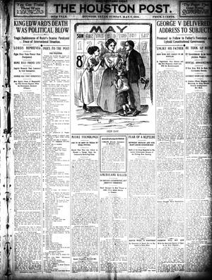 Primary view of object titled 'The Houston Post. (Houston, Tex.), Vol. 26, Ed. 1 Sunday, May 8, 1910'.