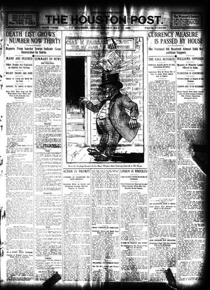 Primary view of object titled 'The Houston Post. (Houston, Tex.), Vol. 24, Ed. 1 Friday, May 15, 1908'.