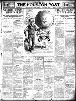 Primary view of object titled 'The Houston Post. (Houston, Tex.), Vol. 25, Ed. 1 Saturday, August 28, 1909'.