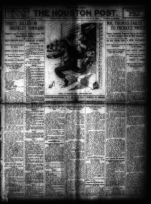 Primary view of object titled 'The Houston Post. (Houston, Tex.), Vol. 24, Ed. 1 Wednesday, March 10, 1909'.