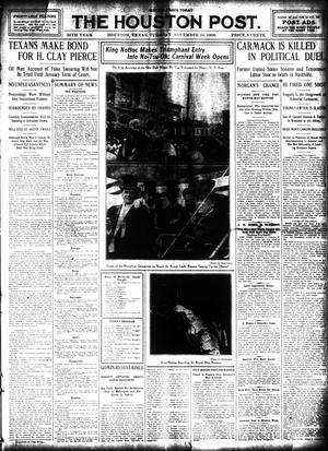 Primary view of The Houston Post. (Houston, Tex.), Vol. 24, Ed. 1 Tuesday, November 10, 1908