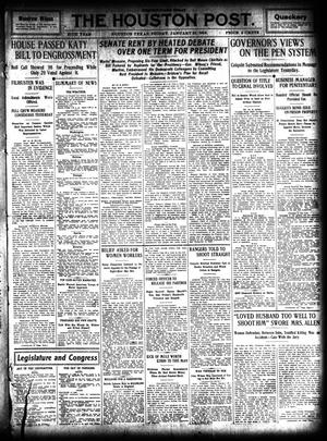 Primary view of object titled 'The Houston Post. (Houston, Tex.), Vol. 27, Ed. 1 Friday, January 31, 1913'.