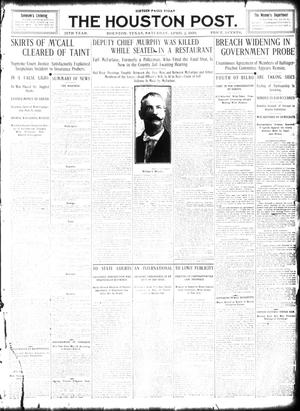 Primary view of object titled 'The Houston Post. (Houston, Tex.), Vol. 25, Ed. 1 Saturday, April 2, 1910'.