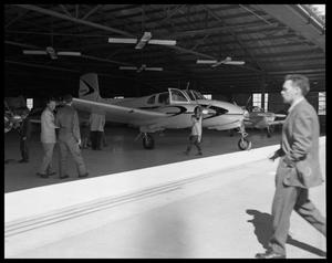 Primary view of object titled '[Planes in a Hangar]'.
