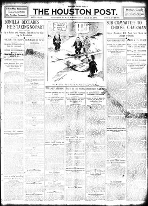 Primary view of object titled 'The Houston Post. (Houston, Tex.), Vol. 24, Ed. 1 Wednesday, July 15, 1908'.