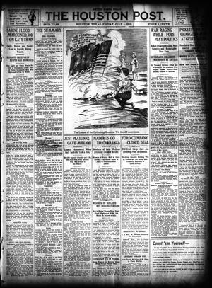 Primary view of object titled 'The Houston Post. (Houston, Tex.), Vol. 28, Ed. 1 Friday, July 4, 1913'.
