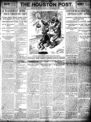 Primary view of object titled 'The Houston Post. (Houston, Tex.), Vol. 25, Ed. 1 Sunday, October 31, 1909'.