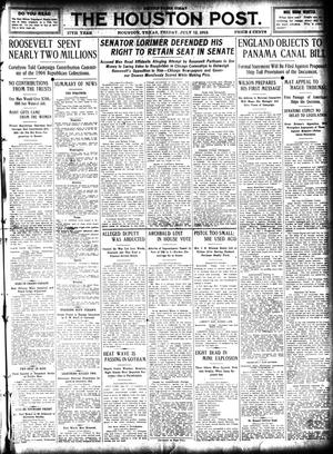 Primary view of object titled 'The Houston Post. (Houston, Tex.), Vol. 27, Ed. 1 Friday, July 12, 1912'.