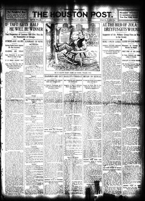 Primary view of object titled 'The Houston Post. (Houston, Tex.), Vol. 24, Ed. 1 Friday, June 5, 1908'.