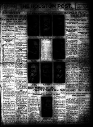 Primary view of object titled 'The Houston Post. (Houston, Tex.), Vol. 26, Ed. 1 Saturday, March 25, 1911'.