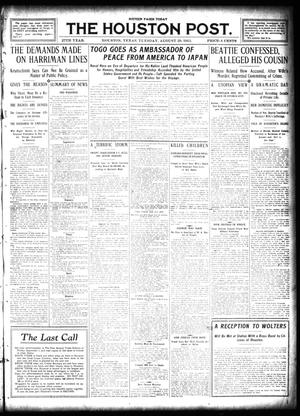 Primary view of object titled 'The Houston Post. (Houston, Tex.), Vol. 27, Ed. 1 Tuesday, August 29, 1911'.