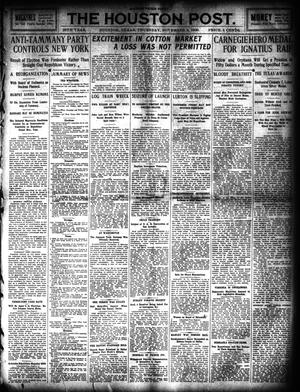 Primary view of object titled 'The Houston Post. (Houston, Tex.), Vol. 25, Ed. 1 Thursday, November 4, 1909'.
