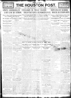 Primary view of object titled 'The Houston Post. (Houston, Tex.), Vol. 24, Ed. 1 Saturday, April 25, 1908'.