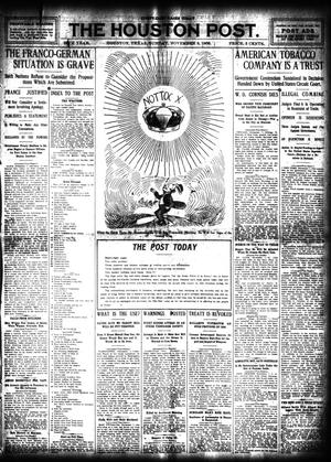 Primary view of object titled 'The Houston Post. (Houston, Tex.), Vol. 24, Ed. 1 Sunday, November 8, 1908'.