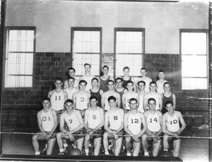 Primary view of object titled 'Hurst High School Boys Basketball Team'.
