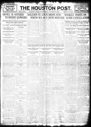 Primary view of object titled 'The Houston Post. (Houston, Tex.), Vol. 24, Ed. 1 Wednesday, October 14, 1908'.