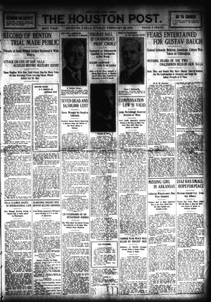 Primary view of object titled 'The Houston Post. (Houston, Tex.), Vol. 28, Ed. 1 Sunday, February 22, 1914'.