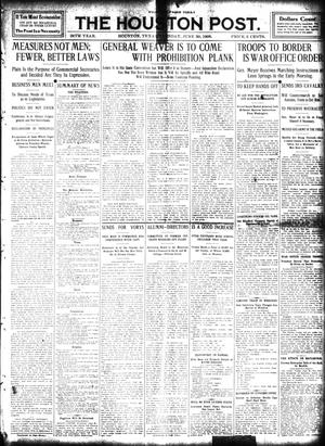 Primary view of object titled 'The Houston Post. (Houston, Tex.), Vol. 24, Ed. 1 Tuesday, June 30, 1908'.