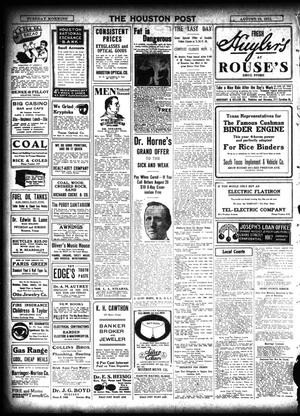 The Houston Post  (Houston, Tex ), Vol  27, Ed  1 Tuesday, August 15